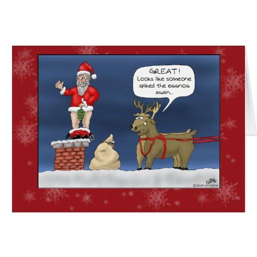 Roliga julkort: Broddade eggnogen Kort