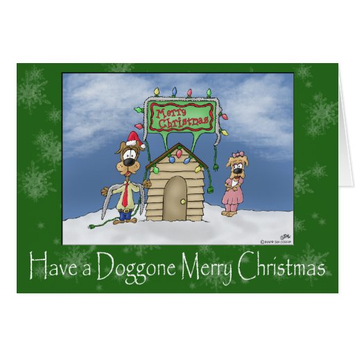 Roliga julkort: Doggone god jul Kort
