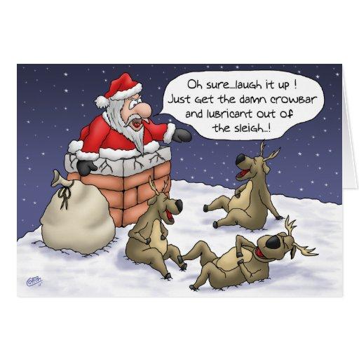 Roliga julkort: Fastnat Hälsnings Kort