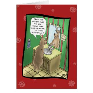 Roliga julkort: Funktionsduglig julafton Hälsnings Kort