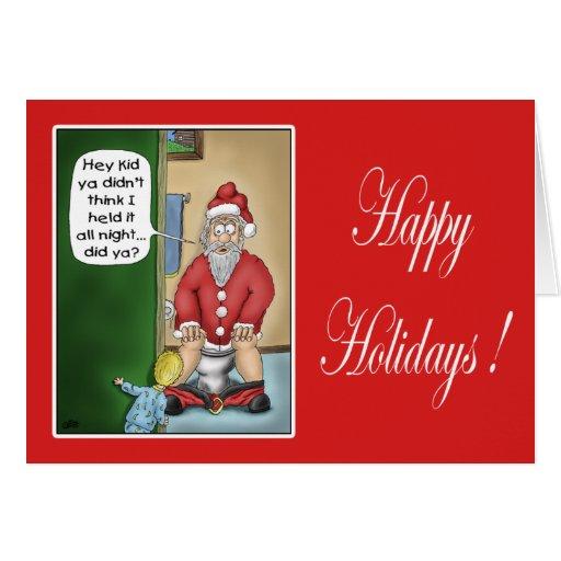Roliga julkort: Gropstopp Hälsningskort