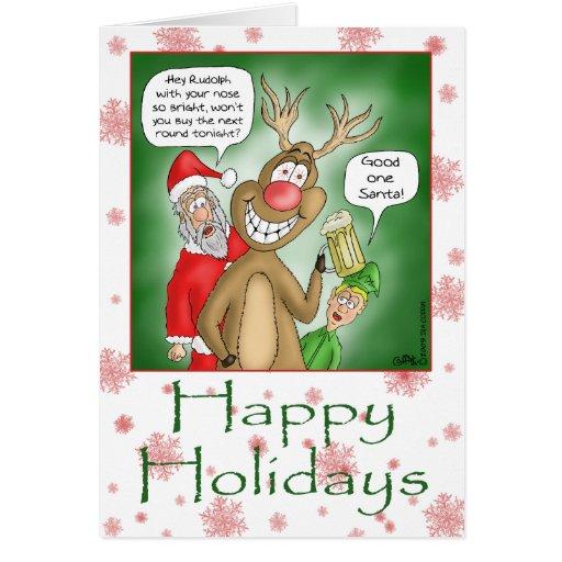 Roliga julkort: Hoppa för pub Hälsningskort