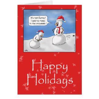 Roliga julkort: Inga stenar! Hälsningskort