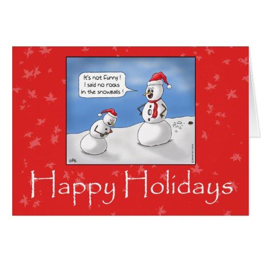 Roliga julkort: Inga stenar! Hälsnings Kort