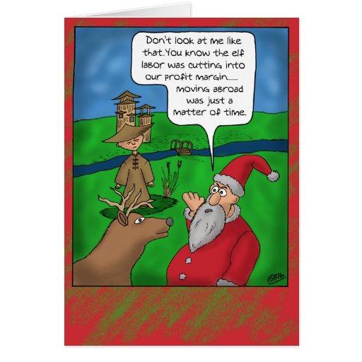 Roliga julkort: Jul utomlands Hälsnings Kort