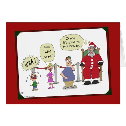 Roliga julkort: Lång dag Kort