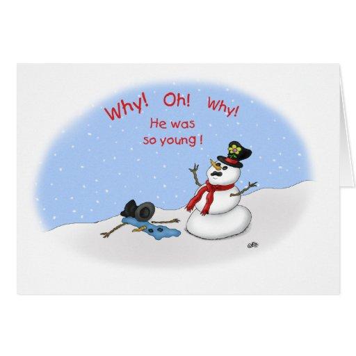 Roliga julkort: Melt-Besegra Hälsnings Kort