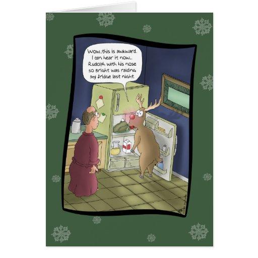 Roliga julkort: Plundra kylen Hälsningskort