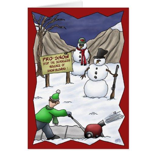 Roliga julkort: Pro-Snö Hälsnings Kort