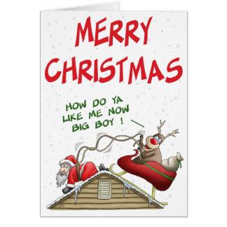 Roliga julkort: Rollomsvängning Hälsningskort
