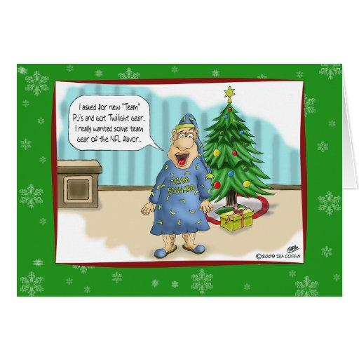 Roliga julkort: Skymninggåva för jul Hälsnings Kort