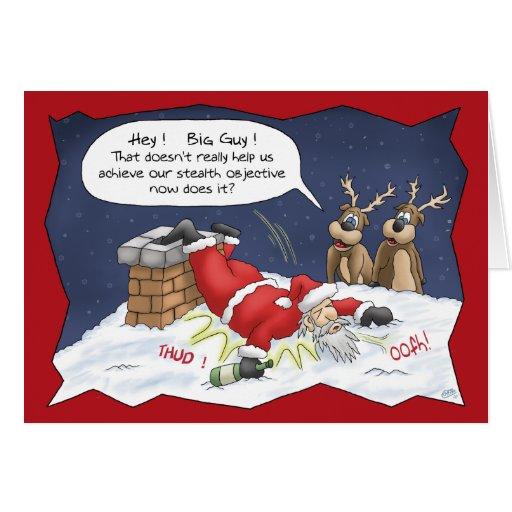 Roliga julkort: Stealthmål Hälsningskort