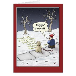 Roliga julkort: Stödja flöde Hälsningskort