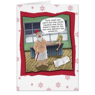Roliga julkort: Styggt och Nice härska Hälsnings Kort