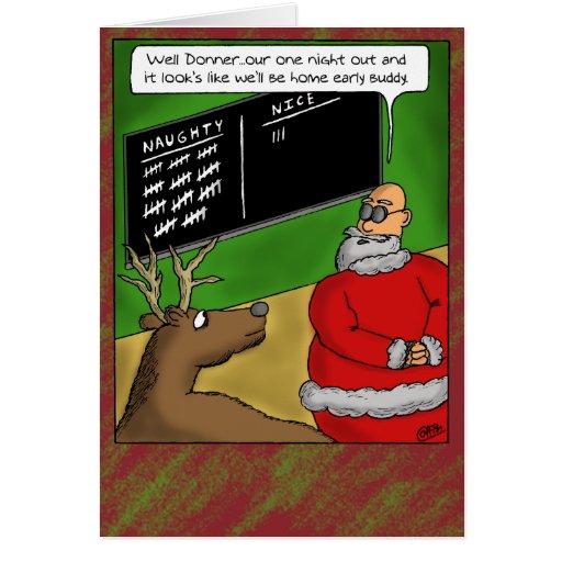 Roliga julkort: Styggt och trevligt Hälsnings Kort