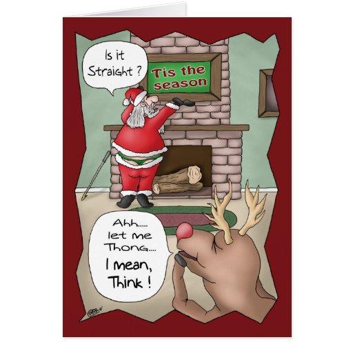 Roliga julkort: ` Tis säsongen Hälsningskort