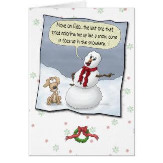 Roliga julkort: Toes upp Hälsningskort