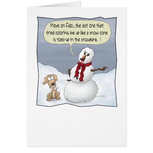 Roliga julkort: Toes upp Kort