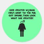 Roliga kvinnor för slogananrtimanar klistermärken