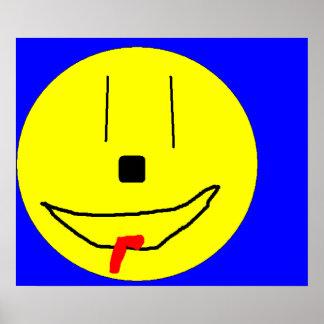 Roliga le Emoji, ungekonst Digital Poster
