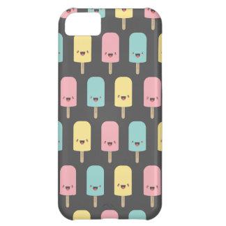 Roliga lyckliga Kawaii isglassar iPhone 5C Fodral