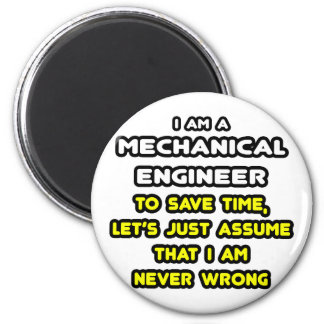 Roliga mekaniska ingenjörT-tröja och gåvor Magneter