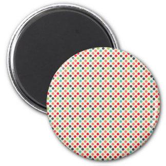 Roliga moderna färgrika polka dotsmönstergåvor magnet