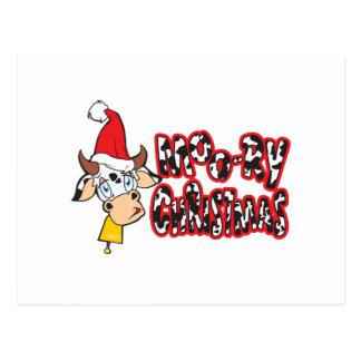 Roliga Moory kort för julkoMu-ry inbjudan Vykort