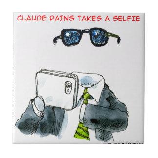 Roliga osynliga Selfie Liten Kakelplatta