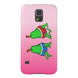 Roliga Pears för gay pride som dansar i deras Galaxy S5 Fodral