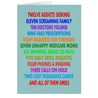 Roliga Pharmacistjulkort Hälsningskort