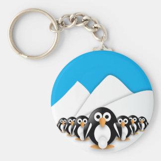 Roliga pingvin nyckelringar