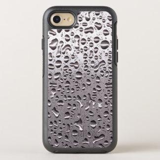 Roliga Raindrops på metallrostfritt stålLook OtterBox Symmetry iPhone 7 Skal
