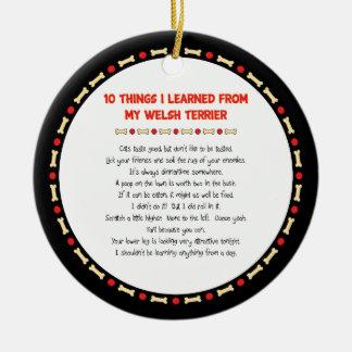 Roliga saker mig som är lärd från min walesiska julgransprydnad keramik