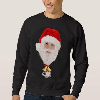 Roliga Santa fotot-skjortor för grabbar Långärmad Tröja