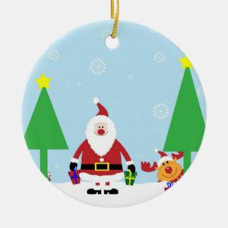Roliga Santa & ren