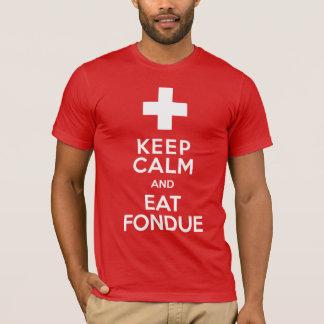 Roliga schweizare skidar semesterortbehållalugn t shirt