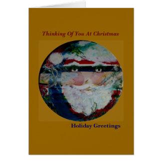Roliga solansikten Julhälsningar kort