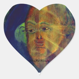 Roliga solansikten, kyssande solklistermärkear för hjärtformat klistermärke