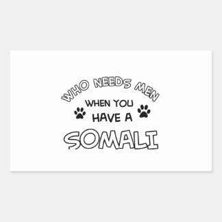 roliga somali designer rektangulärt klistermärke