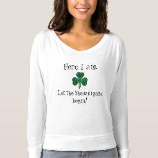 Roliga Sts Patrick dag l5At ståhejen börja! Tee Shirt