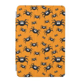 roliga svart spindlar för tecknad över gul iPad mini skydd