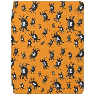 roliga svart spindlar för tecknad över gul iPad skydd