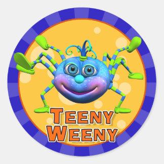 Roliga Teeny Weeny spindelklistermärkear Runt Klistermärke