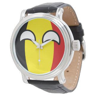Roliga tendera Geeky Belgien Countryball Armbandsur