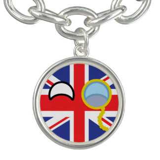Roliga tendera Geeky United Kingdom Countryball Berlockarmband