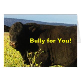 Roliga tjurar för nötkreatur för hälsningskort