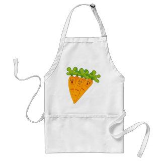 Roliga trädgårds- morötter förkläde
