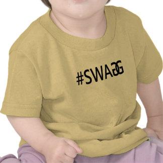 Roliga trendigcitationstecken för #SWAG/SWAGG, Tee