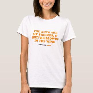 Roliga typografiska misheard sånglyrisk dikt tee shirts